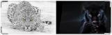 Визитница/Картхолдер, чёрное и белое