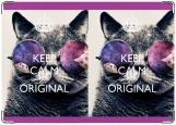 Обложка на паспорт с уголками, Keep calm be original