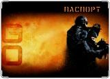 Обложка на паспорт с уголками, Counter-Strike Global Offensive