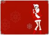 Обложка на паспорт с уголками, Новогодняя снегурочка