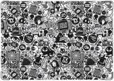 Обложка на паспорт с уголками, Зомби. черно-белый рисунок