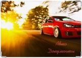 Обложка на автодокументы с уголками, Красная машинка