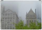 Обложка на паспорт с уголками, Туманный Чикаго