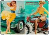 Обложка на автодокументы с уголками, Пинап 5. Девочки
