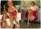 Обложка на автодокументы с уголками, Пинап 7. Девочки