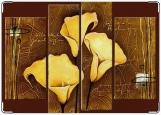Обложка на паспорт с уголками, Золотые каллы