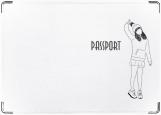 Обложка на паспорт с уголками, девушка 5