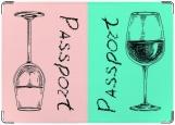 Обложка на паспорт с уголками, пить или не пить