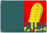 Обложка на паспорт с уголками, кактус