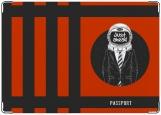 Обложка на паспорт с уголками, космонавт 2