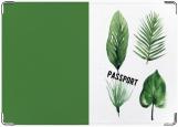 Обложка на паспорт с уголками, листья