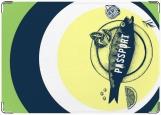 Обложка на паспорт с уголками, рыба