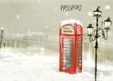 Обложка на паспорт без уголков, Anglomania