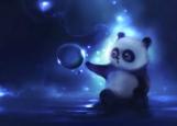 Обложка на паспорт без уголков, панда