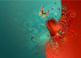 Обложка на паспорт без уголков, Сердце