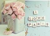Обложка на паспорт без уголков, i love paris