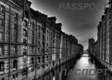 Обложка на паспорт без уголков, Городские каналы