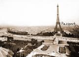 Обложка на паспорт без уголков, Paris passport