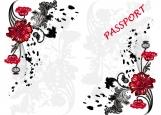 Обложка на паспорт без уголков, цветочки