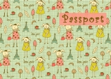 Обложка на паспорт без уголков, Бонжур