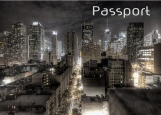 Обложка на паспорт без уголков, Сити