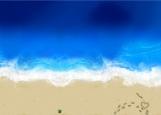 Обложка на паспорт без уголков, Лето. Море. Пляж