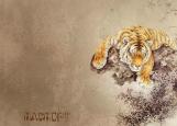 Обложка на паспорт без уголков, Tiger