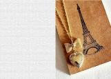 Обложка на автодокументы без уголков, Эйфелева башня