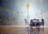 Обложка на автодокументы без уголков, Дождливый вечер