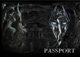 Обложка на паспорт без уголков, skyrim