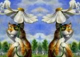 Обложка на паспорт без уголков, Кот и ангел