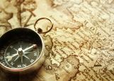 Обложка на паспорт без уголков, компас