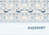 Обложка на паспорт без уголков, морская