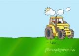 Обложка на автодокументы без уголков, Тракторист