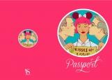 Обложка на паспорт без уголков, Kisses