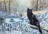 Обложка на автодокументы без уголков, Зимний кот
