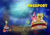 Обложка на паспорт без уголков, spongeBob
