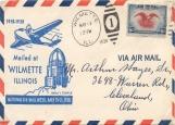 Обложка на паспорт без уголков, Конверт Air mail