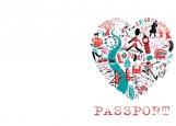 Обложка на паспорт без уголков, Лондон