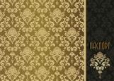 Обложка на паспорт без уголков, золотые узоры