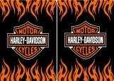 Обложка на паспорт без уголков, Harley Davidson