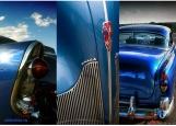 Обложка на автодокументы без уголков, retro blue car