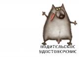 Обложка на автодокументы без уголков, волк2
