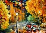 Обложка на автодокументы без уголков, Вечер Осень
