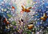 Обложка на автодокументы без уголков, Бабочки