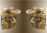 Обложка на автодокументы без уголков, Тигрёнок