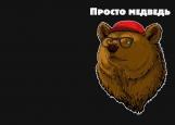 Обложка на паспорт без уголков, Просто медведь
