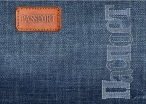 Обложка на паспорт без уголков, Джинсы