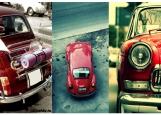 Обложка на автодокументы без уголков, retro red car