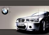 Обложка на автодокументы без уголков, BMW